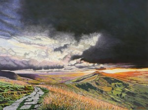 Sunrise Over Mam Tor, Derbyshire