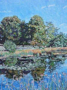 View of lake towards Branston