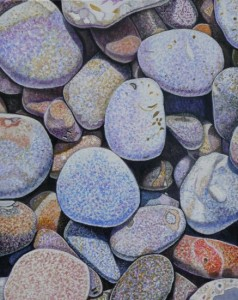 Pebbles, beach, wells next to the sea, norfolk